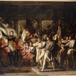 Meynier_-_Le_Maréchal_Ney_remet_aux_soldats_du_76e_régiment_de_ligne,_leurs_drapeaux_retrouvés